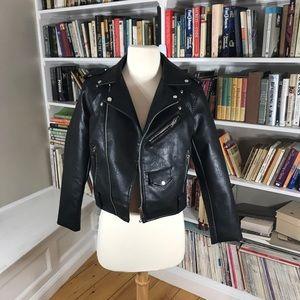 Zara Basic Motorcycle Zipper Moto Jacket